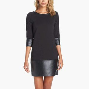 Laundry by Shelli Segal | Knit & Faux Leather Drop